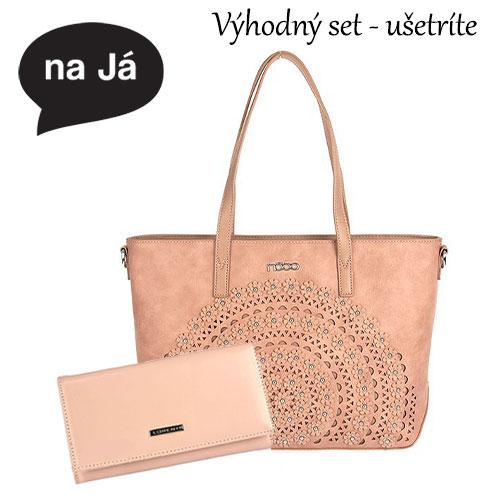 Luxusný set Veľká kabelka NOBO a Elegantná peňaženka LORENTI a7ac1e71c0f