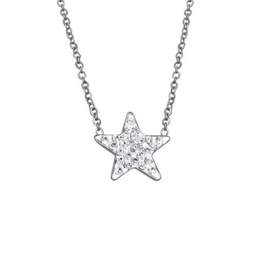 630d3d4ee Dámsky náhrdelník s príveskom Hviezda – strieborný, chirurgická  nehrdzavejúca oceľ