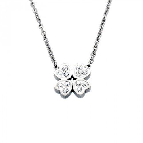 9a78f3380 Dámsky náhrdelník s príveskom Ďatelina – strieborný, chirurgická  nehrdzavejúca oceľ