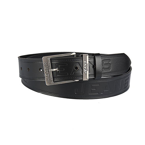 29db80f60844 Pánsky kožený opasok Jeans – čierny