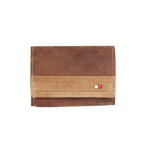 Pánska kožená peňaženka WILD malá - hnedá + box 19469ce1b0b