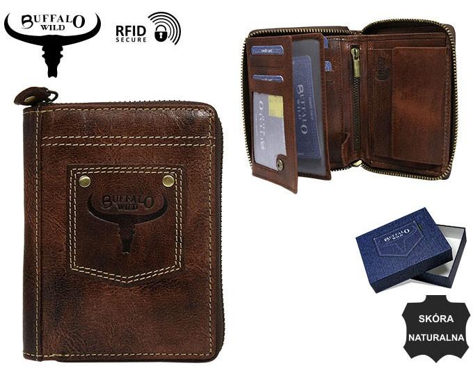 4d63a4ccf1 Pánska kožená peňaženka BUFFALO WILD hnedá + box   RFID