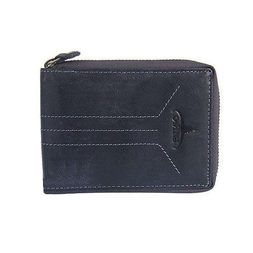 Pánska kožená peňaženka BUFFALO WILD modrá + box   RFID 534741b18fb