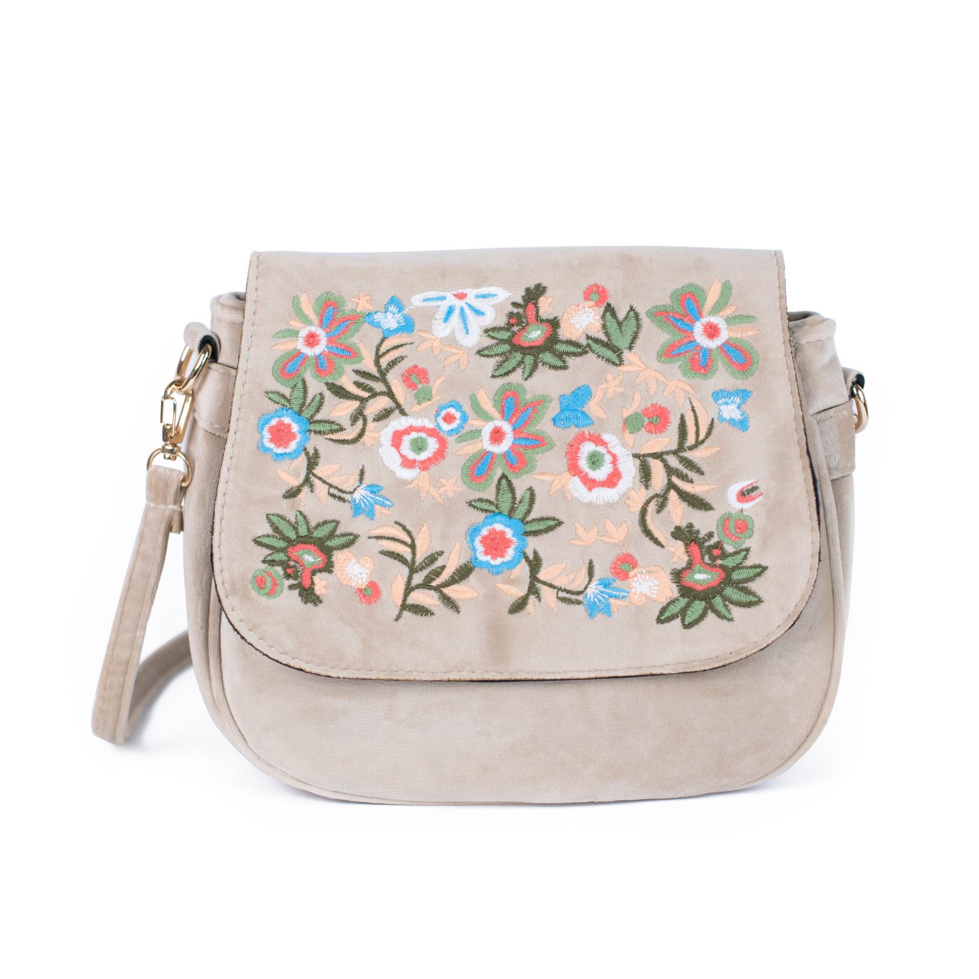 e1e405ee97 Zamatová vyšívaná kabelka – 3 farby