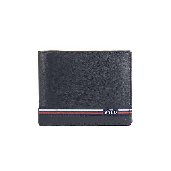 93605dce5 Pánska kožená peňaženka WILD + box / modrá